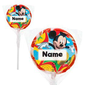 "Mickey Mouse Personalized 2"" Lollipops (20 Pack)"