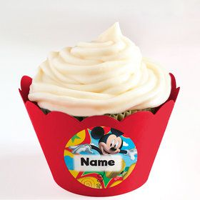 Mickey Mouse Personalized Cupcake Wrappers (Set of 24)
