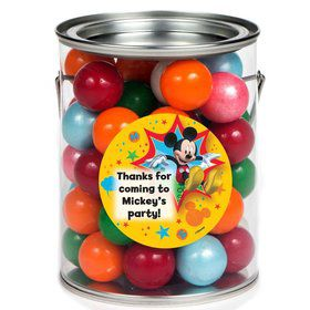 Mickey Mouse Personalized Paint Can Favor Container (6 Pack)