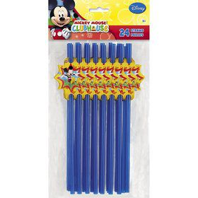 Mickey Mouse Straws (24 Pack)