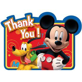 Mickey Mouse Thank You Cards (8 Pack)