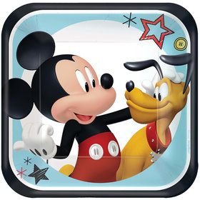 "Mickey On The Go 7"" Dessert Plates (8)"