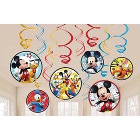 Mickey On The Go Hanging Swirl Decorations