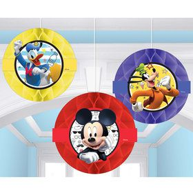 Mickey On The Go Honeycomb Decorations (3)