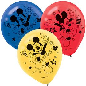 Mickey On The Go Latex Balloons (6)