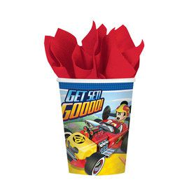 Mickey Roadster 9oz Paper Cups (8)
