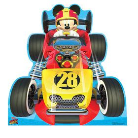 Mickey Roadster Car Cardboard Standup