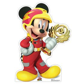 Mickey Roadster Trophy Cardboard Standup