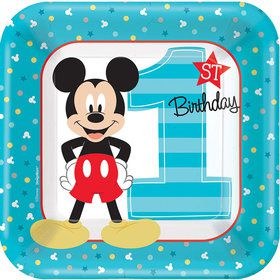 "Mickey's Fun To Be One 7"" Cake Plates (8 Count)"