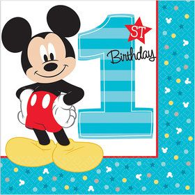 Mickey's Fun To Be One Luncheon Napkins (16 Count)