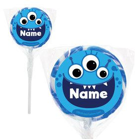 """Mighty Monster Personalized 2"""" Lollipops (20 Pack)"""