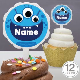 Mighty Monster Personalized Cupcake Picks (12 Count)