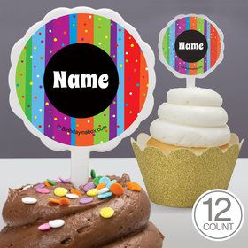 Milestone Celebrations Personalized Cupcake Picks (12 Count)