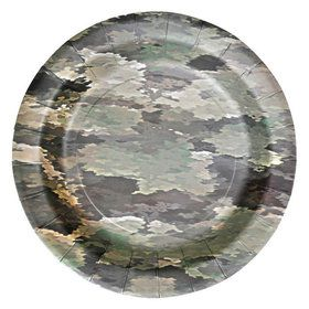 """Military Camo Party Plates 7"""" (8)"""