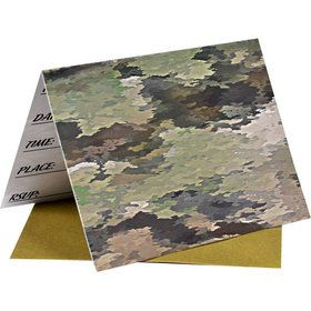 Miltary Camo Party Invitations (8)