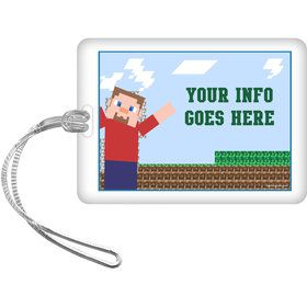 Mine Blocks Personalized Bag Tag (Each)