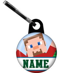 Mine Blocks Personalized Zipper Pull (Each)