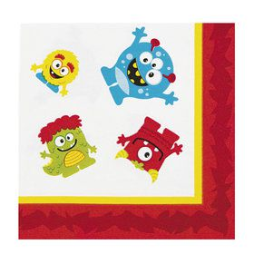 Mini Monster Beverage Napkin (16)