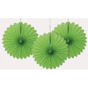 Mini Paper Fans - Lime Green (3)