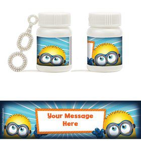 Minion Personalized Bubbles (18 Pack)