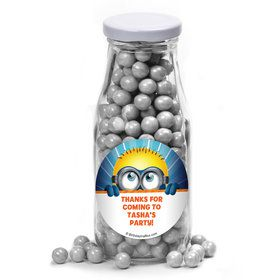 Minion Personalized Glass Milk Bottles (12 Count)