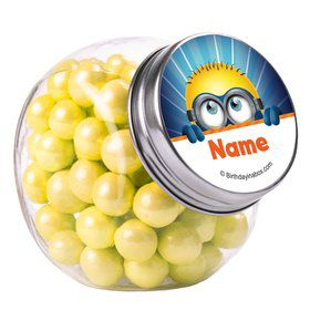Minion Personalized Plain Glass Jars (12 Count)