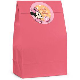 Minnie 1st Bday Personalized Favor Bag (Set Of 12)