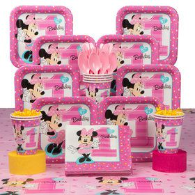Awe Inspiring Minnie Mouse 1St Birthday Deluxe Kit Serves 8 Guests Best Image Libraries Sapebelowcountryjoecom