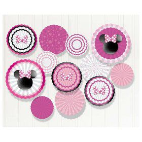 Minnie Mouse Forever Paper Fan Decorating Kit