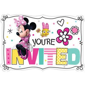 Minnie Mouse Helpers Invitations (8)
