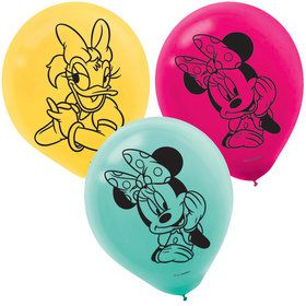 Minnie Mouse Helpers Latex Balloons (6)