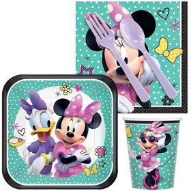 Minnie Mouse Helpers Standard Tableware Kit (Serves 8)