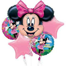 Minnie Mouse Mylar Balloon Bouquet (each)