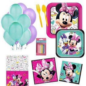 Minnie Mouse Party Essentials Kit (Serves 16)