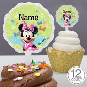 Minnie Mouse Personalized Cupcake Picks (12 Count)