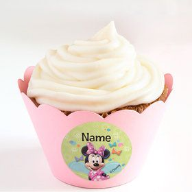 Minnie Mouse Personalized Cupcake Wrappers (Set of 24)