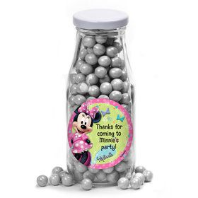 Minnie Mouse Personalized Glass Milk Bottles (12 Count)