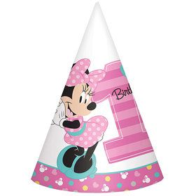 Minnie's Fun To Be One paper Cone Hats (8 Count)