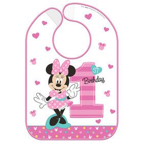 Minnie's Fun To Be One Vinyl Baby Bib (Each)