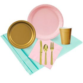 Mint Pink Gold Party Pack (24)