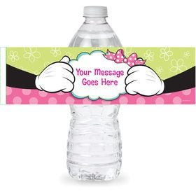 Miss Mouse Personalized Bottle Label (Sheet of 4)