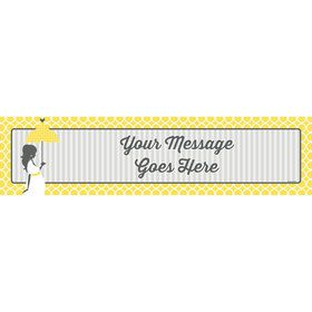 Mod Baby Shower Personalized Banner (Each)