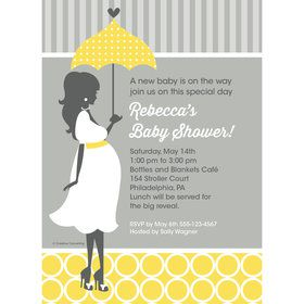 Mod Baby Shower Personalized Invitation (Each)