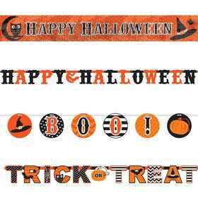 Modern Halloween Multi Letter Banners Set (4 Pack)