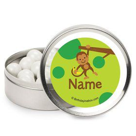 Monkey Party Personalized Candy Tins (12 Pack)