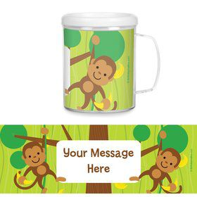 Monkey Party Personalized Favor Mugs (Each)