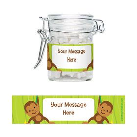 Monkey Party Personalized Glass Apothecary Jars (12 Count)