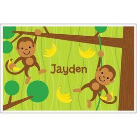 Monkey Party Personalized Placemat (each)