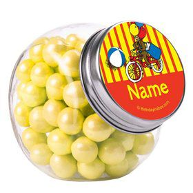 Monkey Personalized Plain Glass Jars (12 Count)