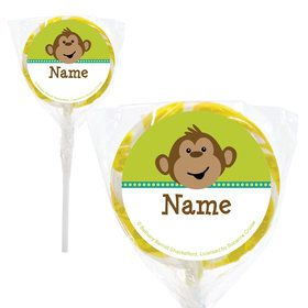 "Monkeying Around Personalized 2"" Lollipops (20 Pack)"